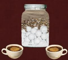 jar of golf balls