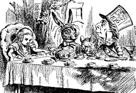 Alice hatter hare mouse